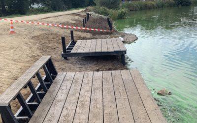 Rénovation du ponton au lac